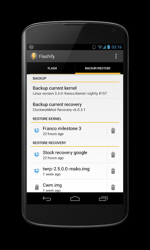 [SOFT] Flashify : flasher simplement des fichiers .img et .zip sans PC [Gratuit] Attachment
