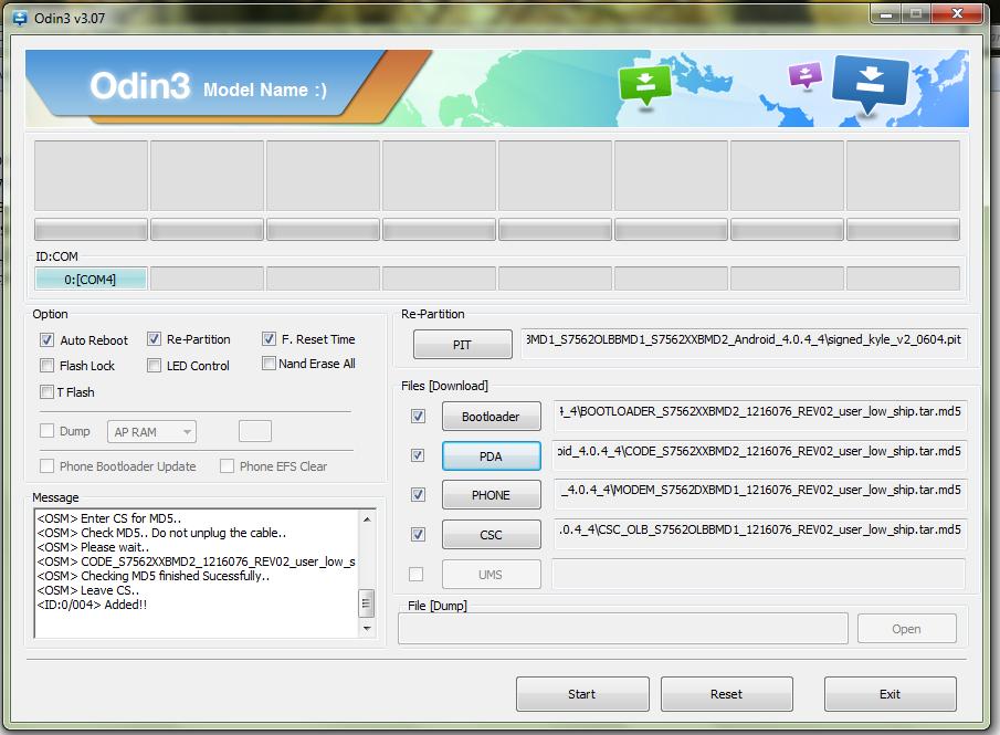 اموزش فلش رام 4 فایل S7562  دانلود فایل ترمیم بوتلودر و CSC Modem و مشکل تصویرs7562 attachment
