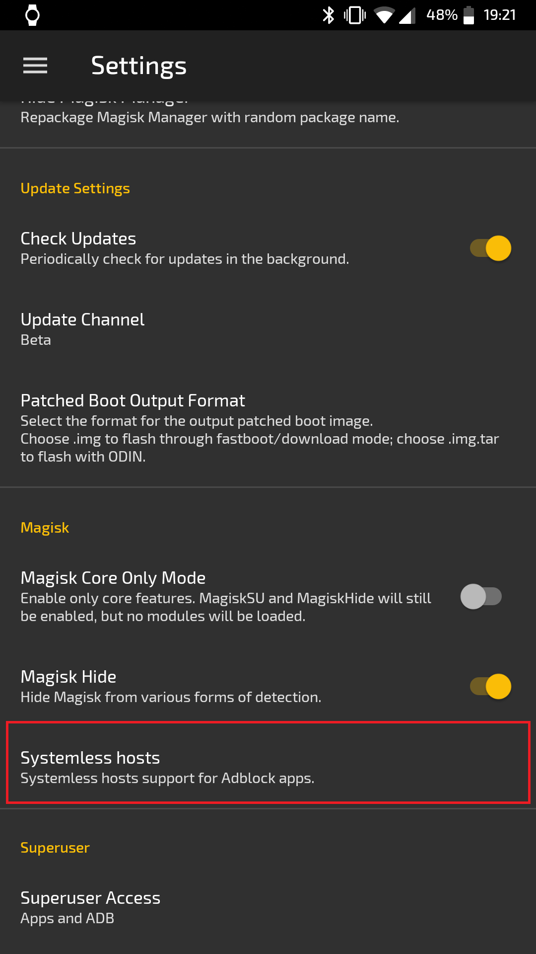 Click image for larger version  Name:Magisk18.0_NewSetting_SystemlessHostsFile_marked.png Views:132 Size:150.2 KB ID:4667905