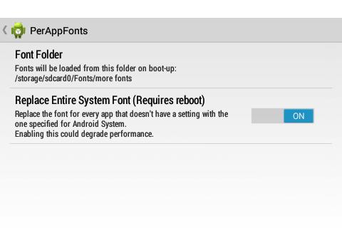 [SOFT][XPOSED]PerAppFonts : Changer et customiser les polices de caractères selon les applications [Gratuit][10.01.2014] Attachment