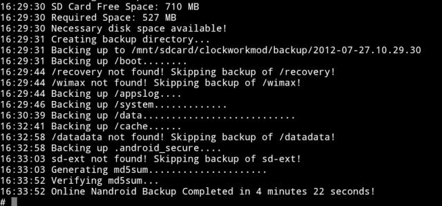 [V9.10] Online Nandroid / Nandroid Backup bez re-startu [CWM + + TWRP 4EXT] Attachment