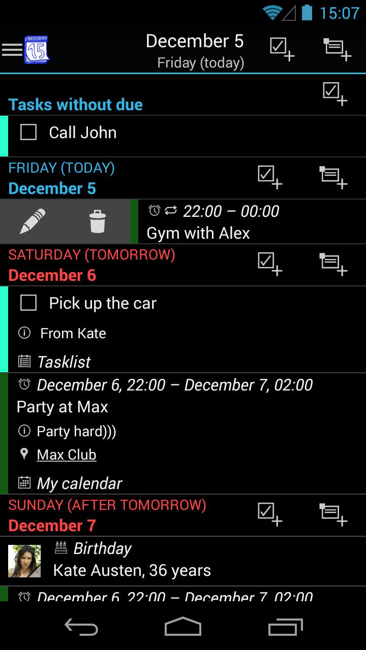 Aplikace M-Calendar Attachment