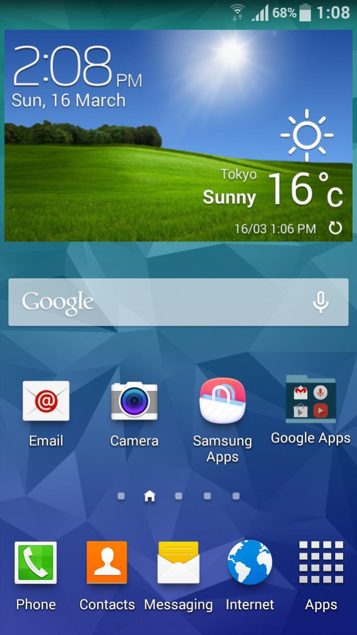 Galaxy -  [Téma] [MOD] Galaxy S5 / S PRO TW Launcher a AccuWeather 4.3 Attachment