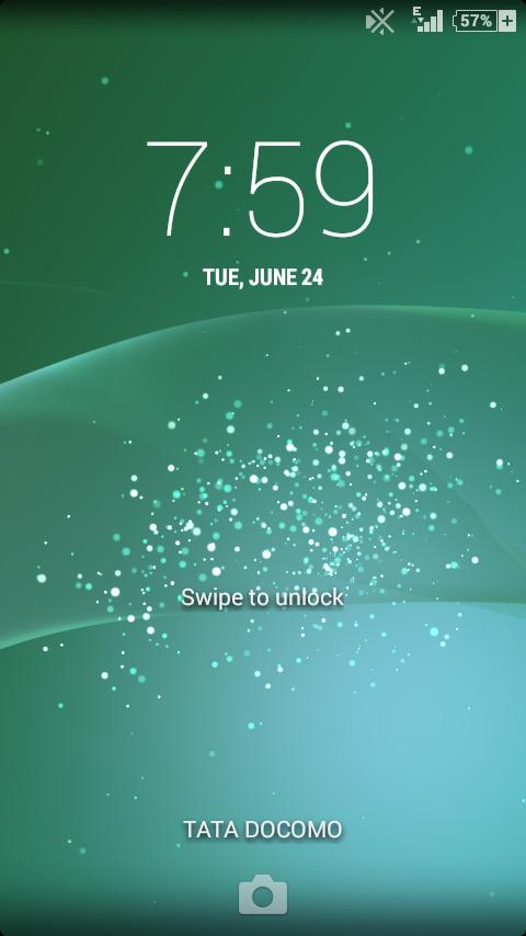 Xperia Z2 Lockscreen Effect