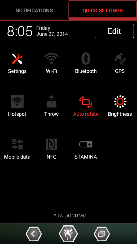 Xperia M Dual Modified 4.4 notification bar