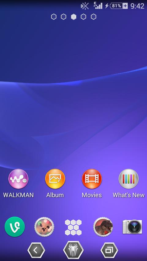 Enfrier Z2 Home Screen
