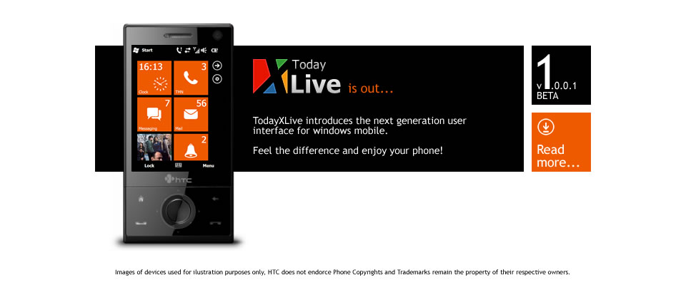 Interface style WP7 pour windows mobile 6.x! Attachment