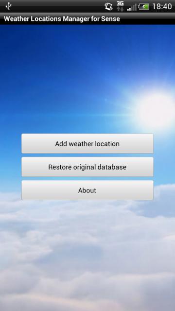 [SOFT] WEATHER LOCATIONS MANAGER FOR SENSE : Ajouter des villes à la météo de Sense [Gratuit] Attachment
