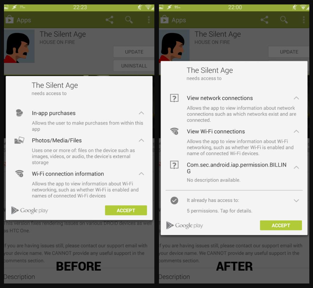 play -  PlayPermissions xposed - Fix nový systém Play Store oprávnění Attachment