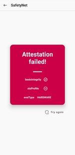 SafetyNet Attesation failed.jpg